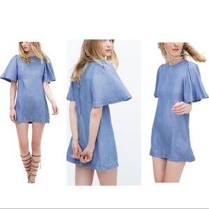ZARA Premium Denim Chambray Dress